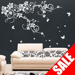 large vine flower butterfly wall stickers wall decal sold 2100 fast