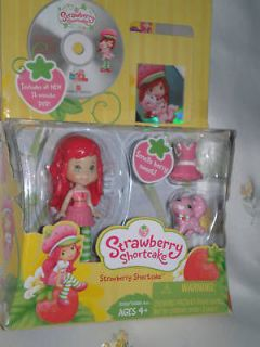 Brand New Strawberry Shortcake Posable Smells Figure Custard DVD ** S4