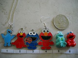 Choice of ONE Sesame Street Elmo Or Cookie Monster Necklace OR