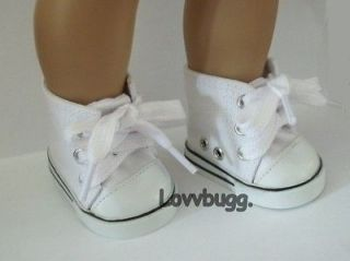 Newly listed White High Tops Tennis Sneakers Doll Shoes for American
