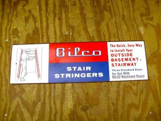 ... VINTAGE BILCO BASEMENT DOOR STAIR STRINGER HARDWARE STORE SIGN ...