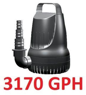 3170 GPH Submersible Magnetic Drive Pump for Koi Goldfish Pond
