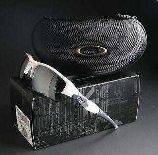 oakley flak jacket xlj sunglasses polished white black iridium lenses