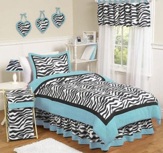 Newly listed SWEET JOJO DESIGNS BLUE ZEBRA PRINT KID TWIN SIZE BEDDING