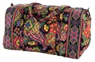 vera bradley large duffel bag symphony in hue color new