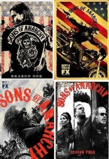 Sons of Anarchy 1 4 The Complete DVD Set Seasons 1,2,3,4 NEW