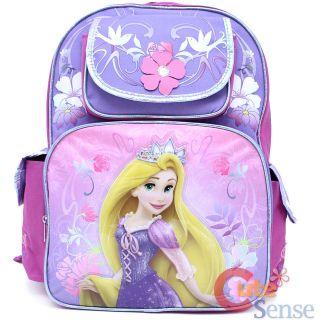 Disney Princess Tangled Rapunzel School Backpack 16 Large Book Bag