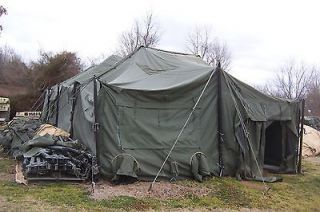 MILITARY TENT MGPTS SURPLUS 18 X 36 HUNTING ARMY FAIR GOOD