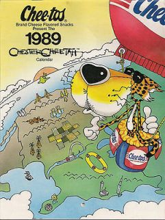 1989 chester cheetah calendar collector s item time left $