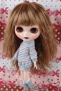 coolcat custom blythe wigs d2 0422 03 tea brown from