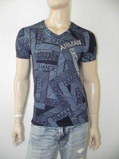 New Armani Exchange AX Mens Slim/Muscle Fit Gaphic V Neck Tee Shirt