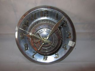 vintage chevy corvette hub cap clock 1966 1976 time left