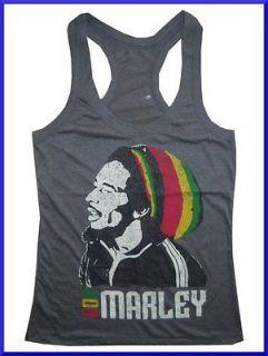 Lady Tank Top Reggae Ganja Marijuana Rasta Jamaica Weed High Free Sz