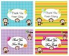 Monkey Baby Shower Birthday Thank You Cards With Matching Seals