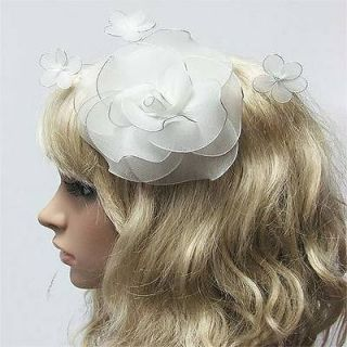 Fascinator Hat Flower Design Party Hair Clip Great For Wedding Bridal