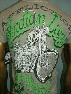68 AFFLICTION American Custom INDIAN LARRY Motorcycle BIKER UFC T