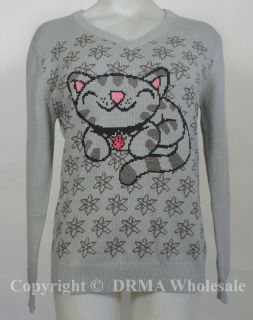 Authentic BIG BANG THEORY Soft Kitty Knit Sweater Girl Juniors S M L