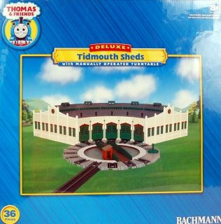 Bachmann HO Scale Train Thomas & Friends Tidmouth Sheds with Turntable