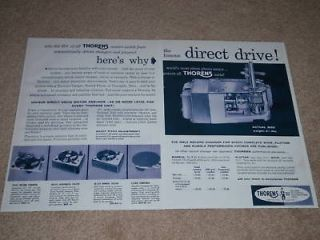 thorens turntable motor ad 1956 2 pgs cd 43 cba