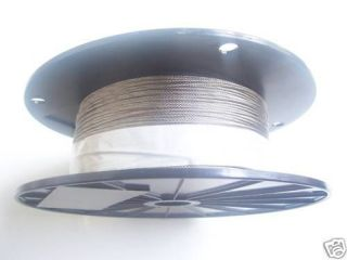 Galvanized Aircraft Cable Wire Rope 1/16, 7x7, 500 ft reel
