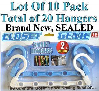 Total Of 20 SMART HANGERS ) Space SAVING Closet ORGANIZER HANGER NEW