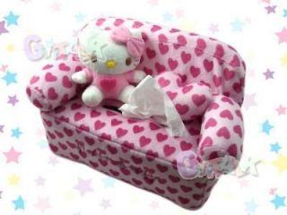 NEW Sanrio Hello Kitty HelloKitty Sofa Plush Doll Tissue Box Cover #D