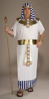egyptian king tut gold white costume xl   xxl mens plus size toga