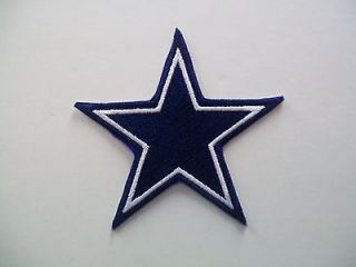 dallas cowboys nfl star patch approx 3 1 4 time
