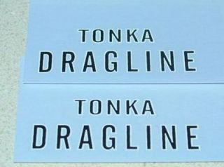tonka dragline 1959 60 decal set tk 097 time left