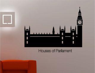 of parliament big ben wall art sticker decal lounge kitchen bedroom