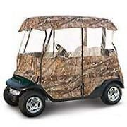 golf cart hunting buggy camo deluxe four sided enclosure time