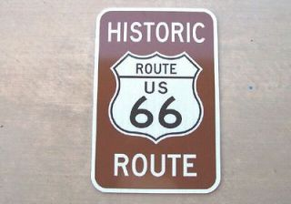 Route US 66 Highway Real Metal Reflective Road Street Sign N/R
