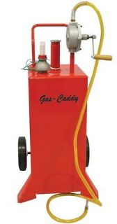 30 Gallon Gas Fuel Diesel Caddy Transfer Tank Container w/ Rotary Pump