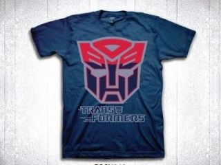 Licensed Hasbro Transformers Two Tune Autobot Symbol Shirt S 2XL