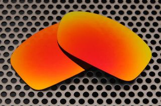 Fire Red Replacement Lenses for Oakley Fives Squared Sunglasses