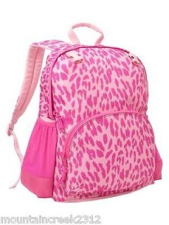 nwt gap kids girls leopard print junior backpack pink new