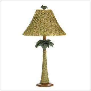 Rattan Styled Palm Tree Lamp Vintage Look Palm Tree