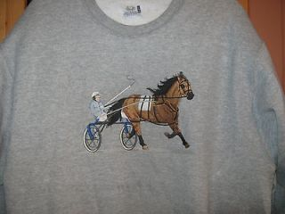 Newly listed NEW SULKY/HARNESS RACING HORSE EMB SWEATSHIRT ADD FREE