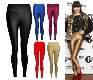 American Disco Pant High Waisted Disco Pant Shiny Legging Trouser 8 14