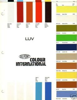 1973 1974 1975 1976 1977 1978 1979 CHEVROLET LUV PAINT CHIPS