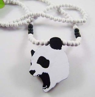1p panda pendant Rosary necklace Hip Hop wooden factory Rosgw016 1