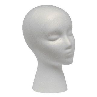 styrofoam head wig head mannequin wig stand with face time