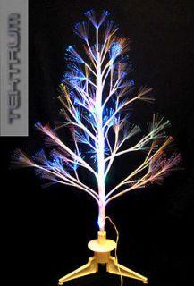 tektrum 32 white fiber optic light led twig tree xmas