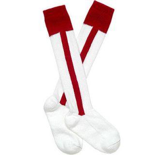 Red Stripe Softball or Baseball Socks Sock Adult sizes 10 13 or 7 11