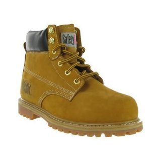 safety girl steel toe waterproof womens work boots tan