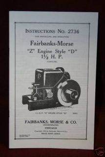 fairbanks morse z engine style d manual hit miss time