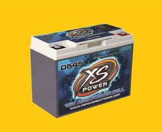 XS Power Deep Cycle 12 Volt 12V AGM Power Cell Battery D545 Brand New