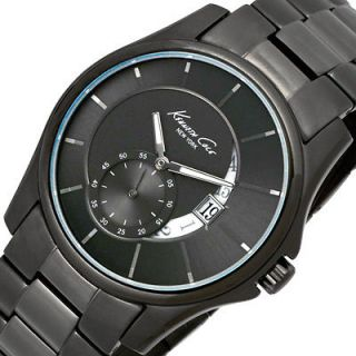 Mens KENNETH COLE New York Analog Watch KC3902 Black Bracelet