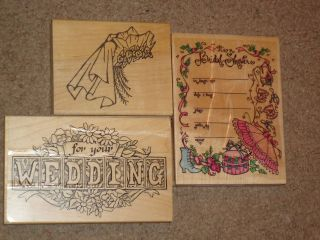 Wood Mounted Rubber Stamps Wedding Vail For Your Wedding Bridal Shower