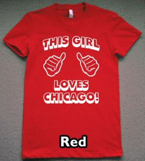 this girl loves chicago t shirt new chi town tee jersey